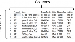 SQL Columns and Rows