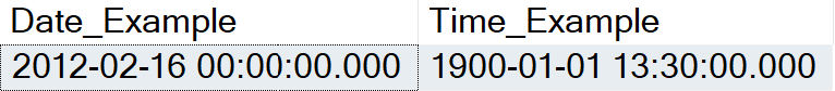 Date Time format example